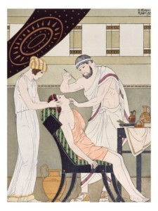 joseph-kuhn-regnier-the-dentist-illustration-from-the-complete-works-of-hippocrates-1932-colour-litho