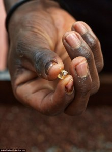 african hand diamond