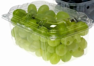 grapes in plastic