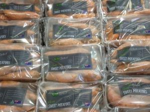 sweet potatoes in packaging